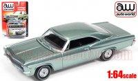 Autoworld 1966 シボレー インパラ SS HT グリーン 1:64