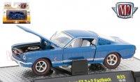 M2 Detroit Muscle #35 1965 フォード マスタング GT 2+2 ファストバック ブルー 1:64