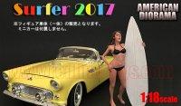 アメリカンジオラマ フィギュア サーファー 2017 キャシー 1:18