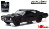 グリーンライト ブラックバンディット #16 1972 シボレー シェベル SS 396 1:64