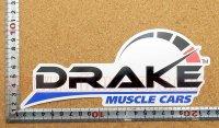 DRAKE MUSCLE CARS ステッカー(L) 縦8.7�×横20.7�