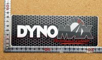 DYNOMAX ステッカー(L) ブラック 縦7.0�×横20.0�