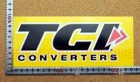 TCI CONVERTERS ステッカー(L) 縦9.3�×横22.5�