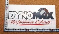 DYNOMAX ステッカー(L) ホワイト 縦7.0�×横20.0�