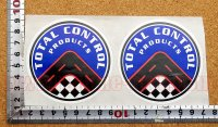 TOTAL CONTROL ステッカー(M) 2枚綴り 直径7.5�
