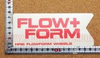FLOW+FORM ステッカー(M) ホワイト 縦6.4�×横5.3�