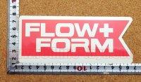 FLOW+FORM ステッカー(M) レッド 縦6.4�×横5.3�