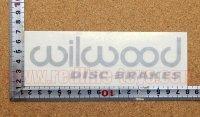 wilwood ステッカー(M) ブラック 縦4.3�×横15.5�