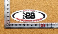 B&B PERFORMANCE ステッカー(S) 縦3.4�×横9.4�