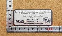 MSD PERFORMANCE ステッカー(S) 縦3.8�×横9.0�