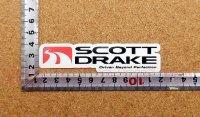 SCOTT DRAKE ステッカー(S) 縦2.5�×横10.6�