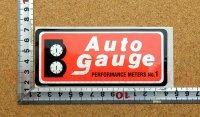 Auto gauge ステッカー(S) レッド 縦5.4�×横12.5�