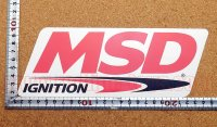 MSD イグニッション ステッカー タイプ2(LL) 縦8.6�×横23.5�