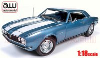 オートワールド 1967 シボレー カマロ Z28 ブルー 50th Anniv. 1:18