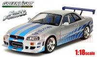 グリーンライト ARTISAN 1999 日産 スカイライン GT-R(R34) 「ワイルド・スピード」 1:18