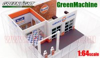 GL MECHANIC'S CORNER #1 GULF OIL ビンテージ ガスステーション ジオラマ 1:64 GreenMachine<img class='new_mark_img2' src='//img.shop-pro.jp/img/new/icons1.gif' style='border:none;display:inline;margin:0px;padding:0px;width:auto;' />