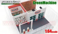 GL MECHANIC'S CORNER #1 TEXACO OIL ビンテージ ガスステーション ジオラマ 1:64 GreenMachine