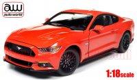 オートワールド 2016 フォード マスタング GT オレンジ 1:18