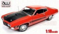 オートワールド 1970 フォード トリノ コブラ ツイスター スペシャル オレンジ 1:18