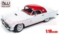 オートワールド 1957 フォード サンダーバード w/ ハードトップ ホワイト 1:18