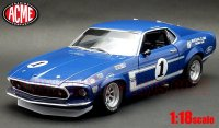 ACME 1969 BOSS 302 トランザム マスタング Sam Posey Lime Rock Winner 1:18