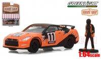 グリーンライト HobbyShop #3 2011 日産 GT-R(R35) w/ フィギュア(レーサー) 1:64