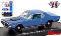M2 AutoDrivers #47 1968 マーキュリー クーガー R-Code ブルー 1:64