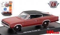 M2 AutoDrivers #47 1966 ダッジ チャージャー 383 レッド 1:64