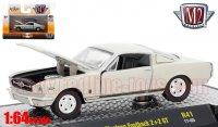 M2 Detroit Muscle #41 1966 フォード マスタング ファストバック 2+2 GT ライトグレー 1:64