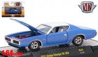 M2 Detroit Muscle #41 1971 ダッジ チャージャー SE 383 ブルー 1:64