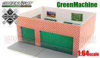 グリーンライト MECHANIC'S CORNER #2 ウィークエンド ワークショップ ジオラマ MAN CAVE 1:64 GreenMachine