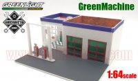グリーンライト MECHANIC'S CORNER #2 Chevron ビンテージ ガスステーション 1:64 GreenMachine