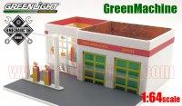 グリーンライト MECHANIC'S CORNER #2 Shell ビンテージ ガスステーション 1:64 GreenMachine