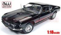 オートワールド 1969 フォード マスタング Mach1 Hemmings Muscle Machines ブラック 1:18