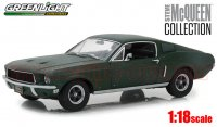 グリーンライト スティーブ・マっクイーン コレクション 1968 フォード マスタング GT ファストバック Unrestored 1:18