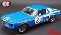 ACME 1968 フォード マスタング Dan Gurney Shelby Racing Co. #2 1:18