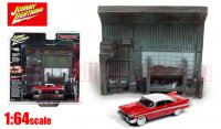 JL クリスティーン 1958 プリムス フューリー & ガレージ ジオラマセット 1:64<img class='new_mark_img2' src='//img.shop-pro.jp/img/new/icons1.gif' style='border:none;display:inline;margin:0px;padding:0px;width:auto;' />