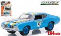 グリーンライト GL MUSCLE #14 1970 オールズモビル カトラス 442 Goodyear Grabber 1:64