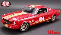 ACME 1966 シェルビー GT350H レンタレーサー  レッド/ゴールドストライプ 1:18