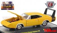 M2 DetroitMuscle #44 1969 ダッジ チャージャー デイトナ 440 イエロー 1:64