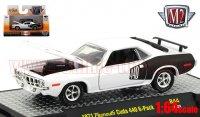 M2 DetroitMuscle #44 1971 プリムス クーダ 440 6-Pack ホワイト 1:64