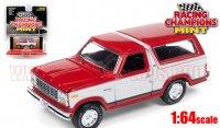 RACING CHAMPIONS MINT #2C 1980 フォード ブロンコ レッド/ホワイト 1:64