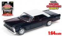 RACING CHAMPIONS MINT #2C 1965 フォード ギャラクシー 500 ダークブルー/ホワイト 1:64