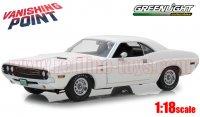 グリーンライト 1970 ダッジ チャレンジャー R/T 「バニシング・ポイント」 ホワイト 1:18