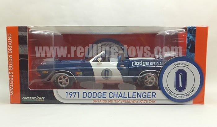 グリーンライト 71 チャレンジャー コンバーチブル Ontario Motor Speedway Pace Car 1:18