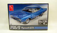 AMT '69プリムスGTX 1:25 Blue プラモデル