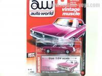 AutoWorld 1971 ダッジ ダート スウィンガー プラム 1:64