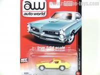 AutoWorld 1967 シボレー コルベット 427 イエロー 1:64