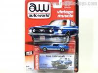 AutoWorld 1967 フォード マスタング GT ブルー 1:64