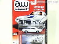 AutoWorld 1969 ポンティアック ファイヤーバード トランザム ホワイト 1:64